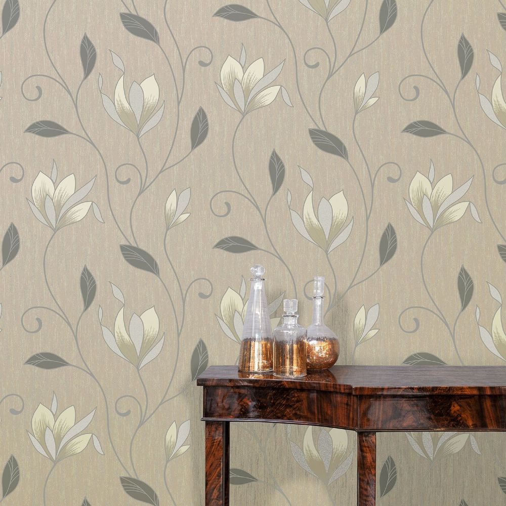 Crown Synergy Taupe M0782 Wallpaper